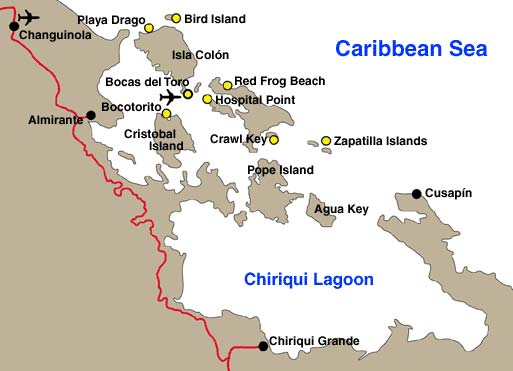 A descriptive map of Bocas del Toro